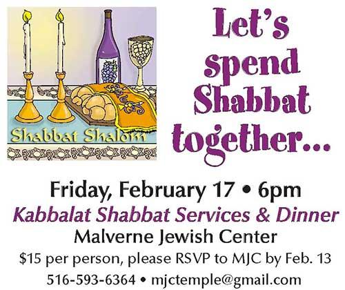 Shabbat Dinner February 2017