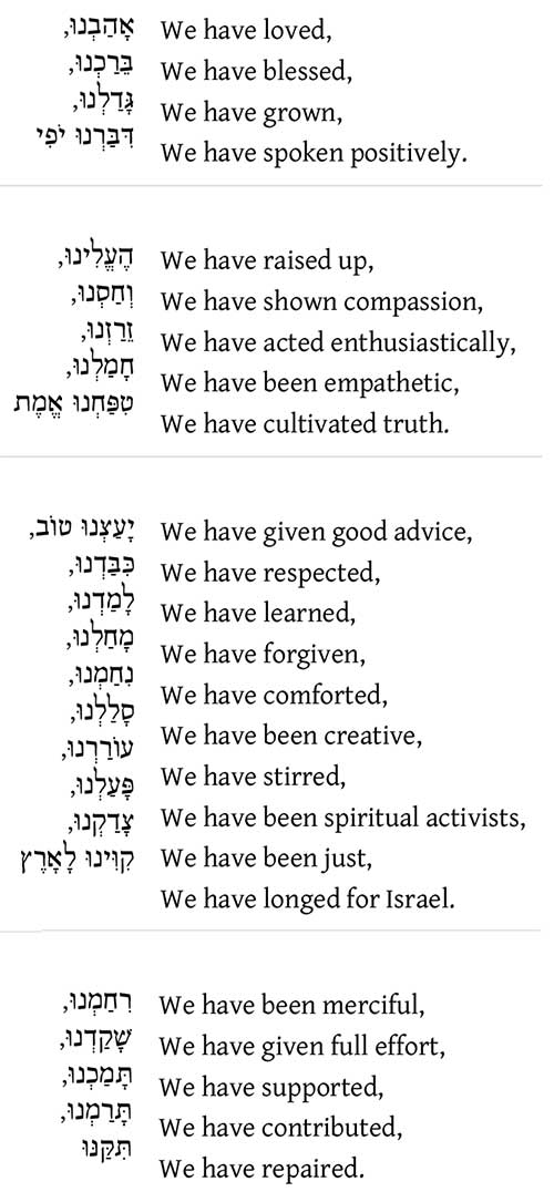 Vidui by Rabbi Avi Weiss