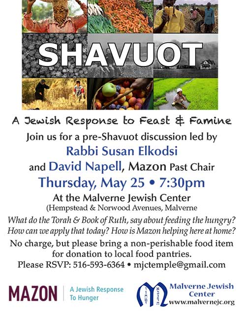 Pre-Shavuot Discussion