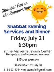 July Shabbat Dinner 2017