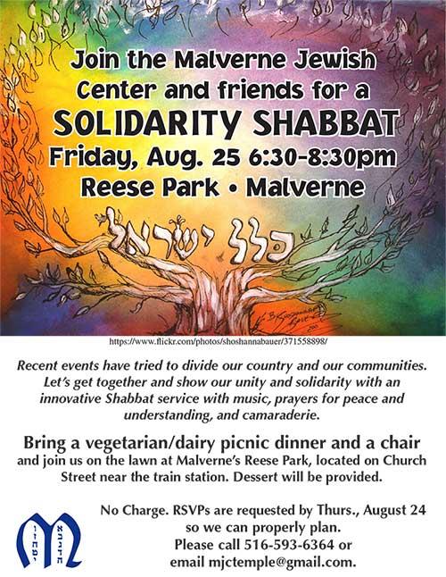 Solidarity Shabbat