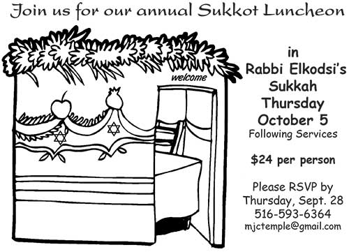 Sukkot Luncheon 2017