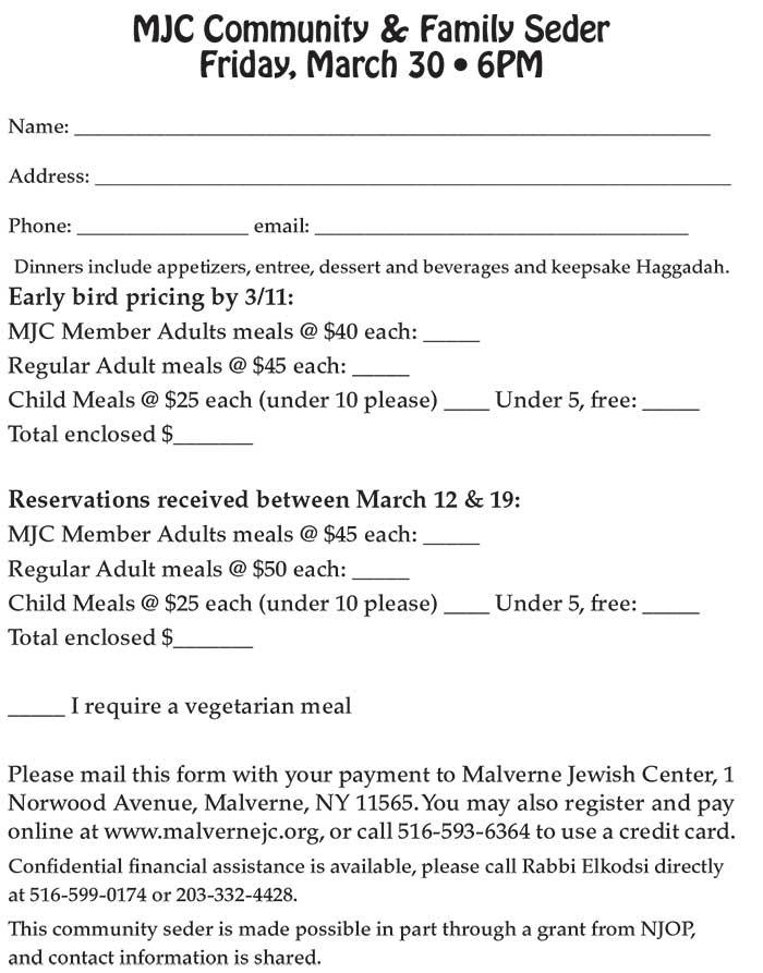 form Only Seder 700