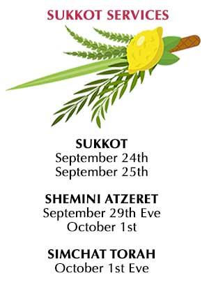 5779 Services Sukkot