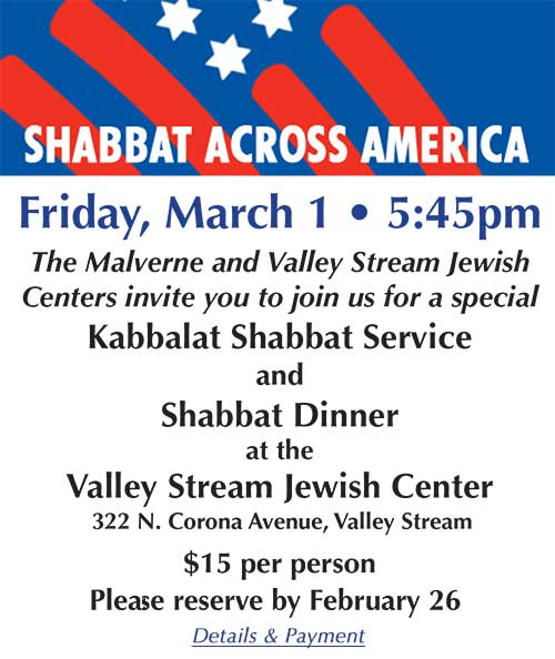 Shabbat Across America - March 1
