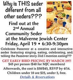 2019 Passover Community Service