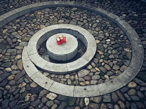 a labyrinth with sonnets and candles.